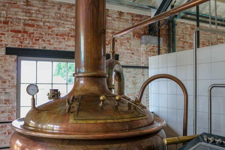 Roodkoperen brouwketel van de brouwerij