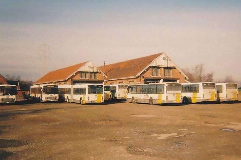 Oude stalling van de Lijn bussen in Koersel