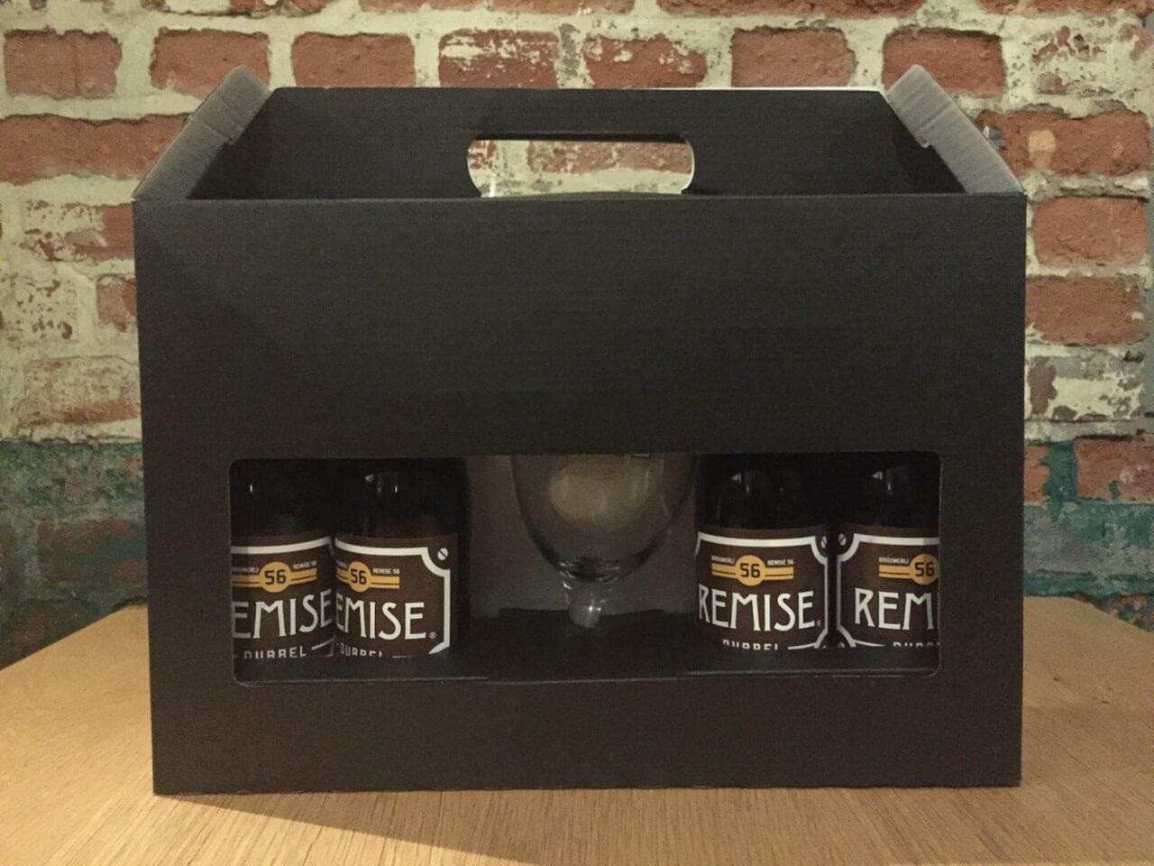 Geschenk koffer met Remise 56 Dubbel en Glas