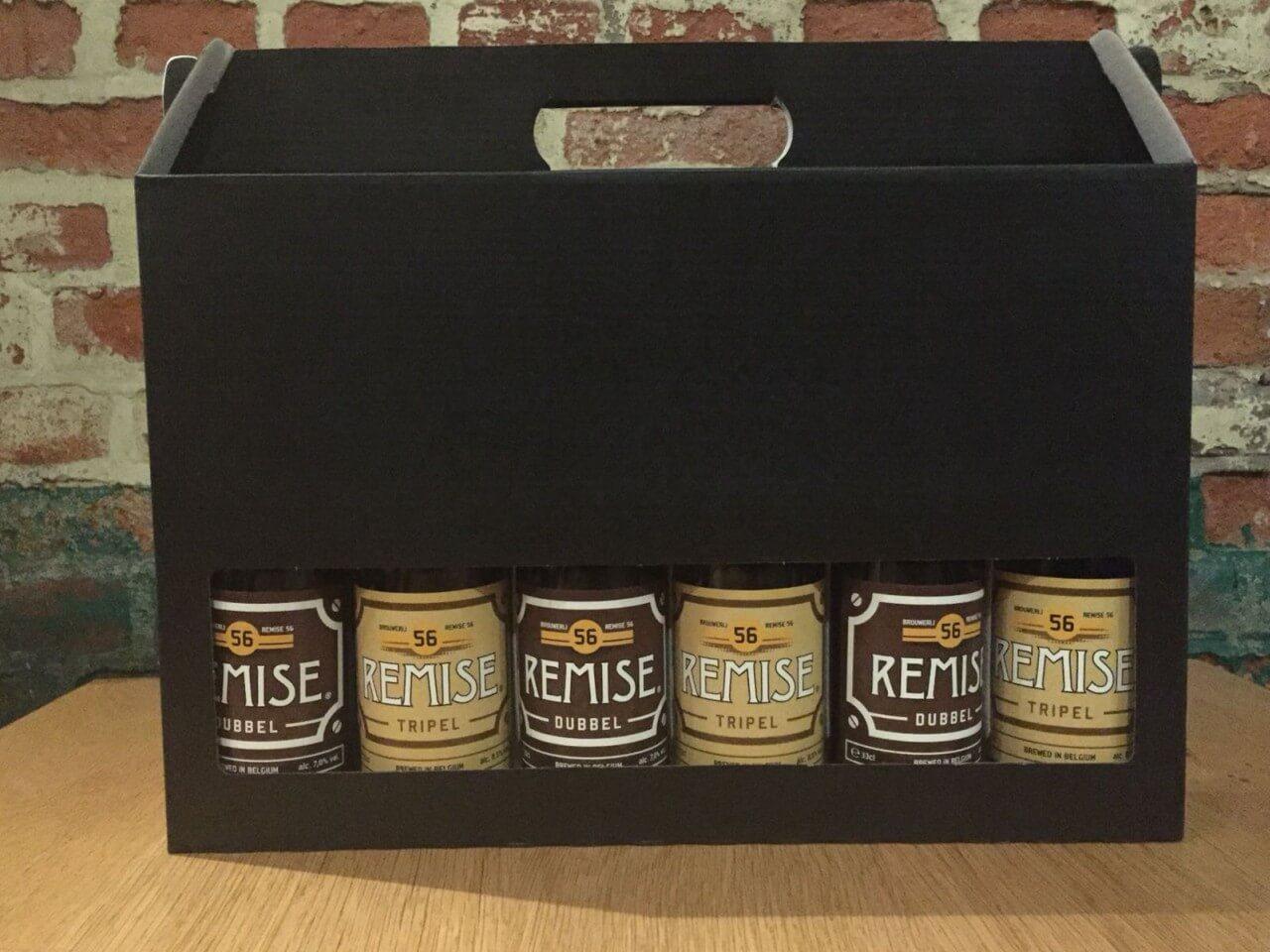 Geschenk koffer met Remise 56 Dubbel en Tripel