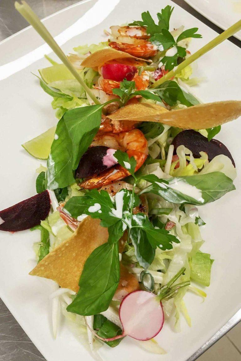 Salade met scampi